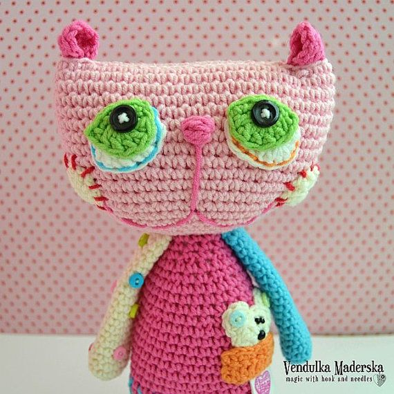Cat Crochet Pattern : Crochet cat pattern by VendulkaM on Etsy, $5.30