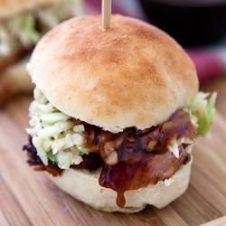 Grilled Pork Tenderloin and Spicy Coleslaw Sliders