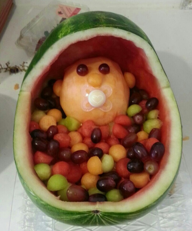 cute baby shower idea made with fruit baby shower pinterest