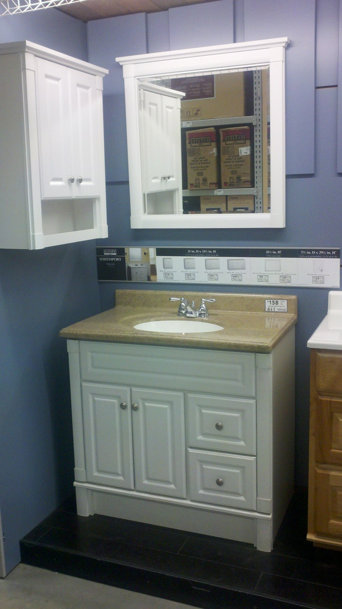 White Vanity Cabinet at Lowes  Domestic  Bathroom  Pinterest