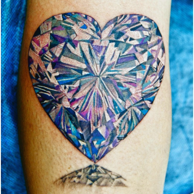 Diamond heart tattoos ahhs pinterest for Diamond heart tattoo