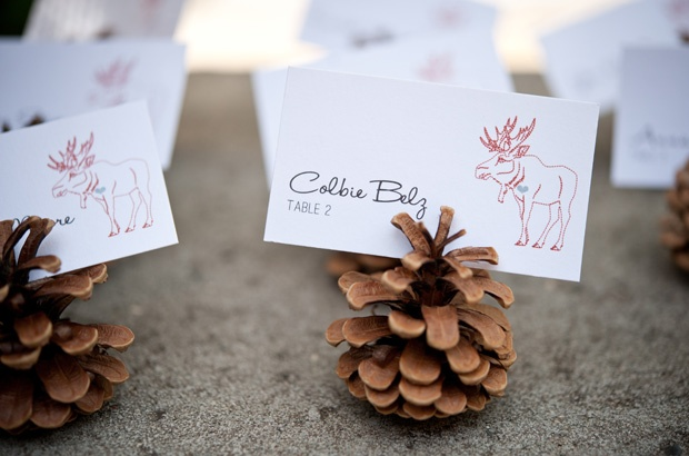 Rustic Place Cards #wedding #placecards #rustic