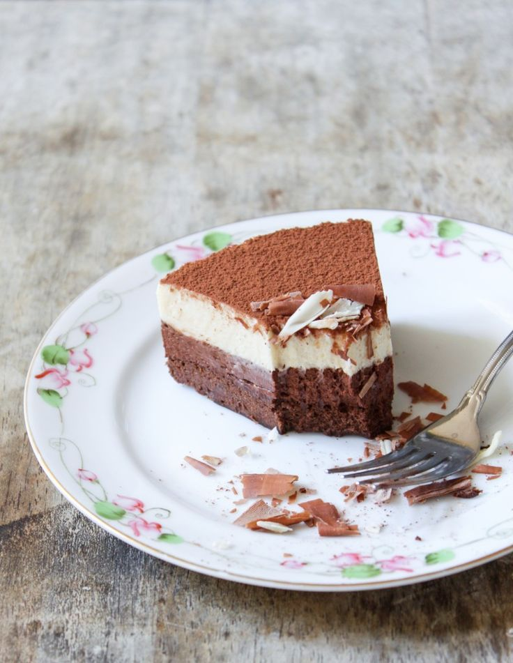 ... of mother's day cake: dark chocolate and white coffee mousse cake
