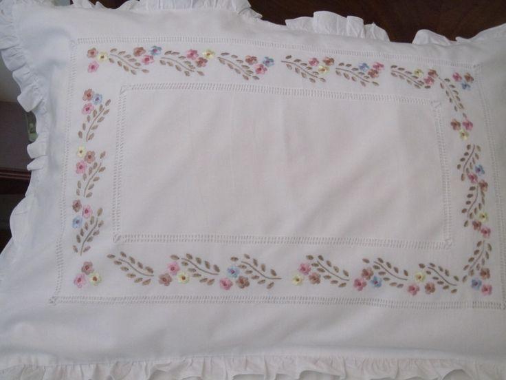 Pillow cover hand embroidery designs makaroka