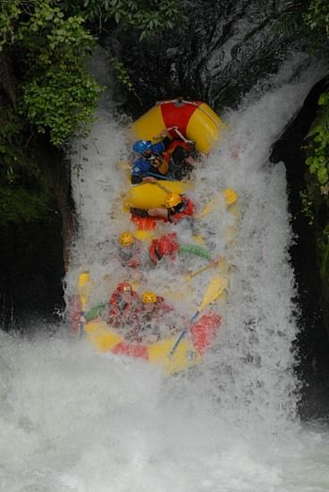 White water rafting, which our boat capsized. Almost died...true story.