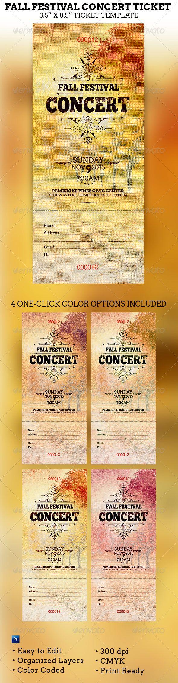 concert ticket design template | datariouruguay