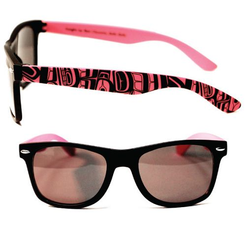 "Sunglasses -  Wayfarer - Pink/Black ""Insight"""
