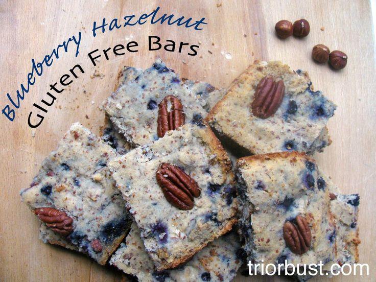 Blueberry Hazelnut Breakfast Bars - gluten free, dairy free, soy free.