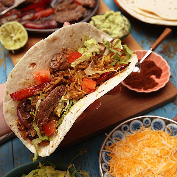 Flank Steak Fajitas will be a hit at your fiesta! Ingredients: Lime ...