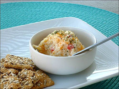 Pimento Cheese and Low Carb Crackers - Food Stories
