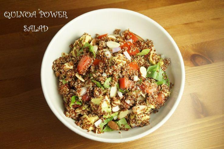 Quinoa Power Salad w/ Honey Lemon Vinaigrette (avocado, tomatoes ...