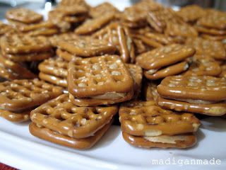 ... peanut butter and pretzel 'sandwiches' ~ Madigan Made { simple DIY