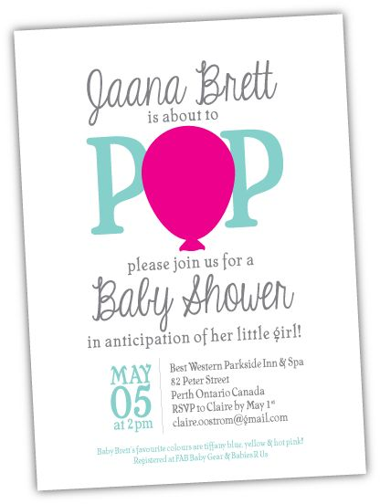 ready to pop 39 baby shower invitation baby fever pinterest