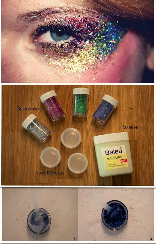 Festival Makeup Face Glitter Products Clip In Hair
