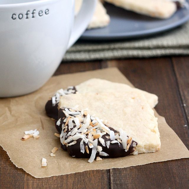 Toasted Coconut Shortbread Cookies by Traceys Culinary Adventures