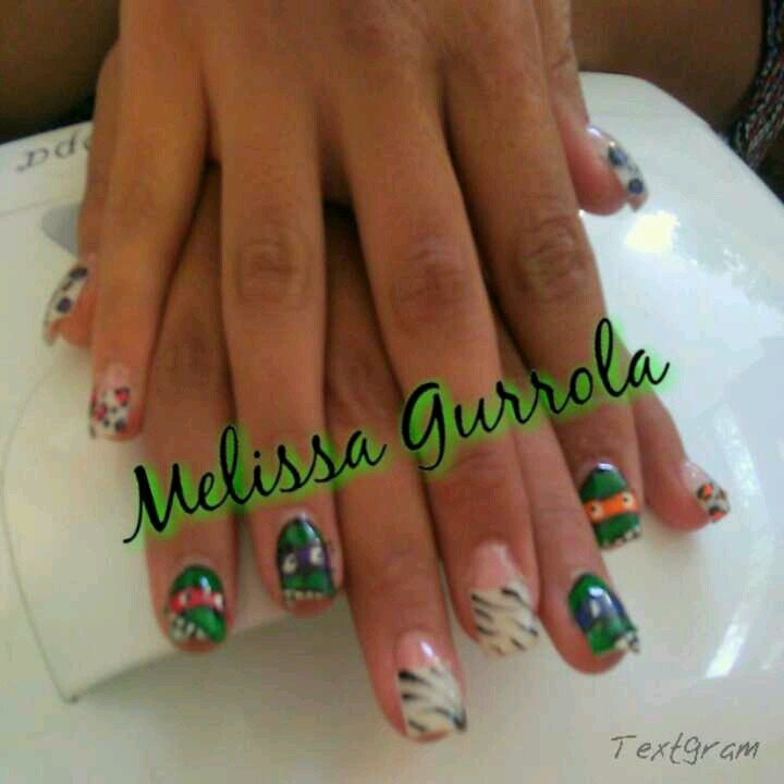 TMNT Nails | My work/Nails/Nail Art | Pinterest