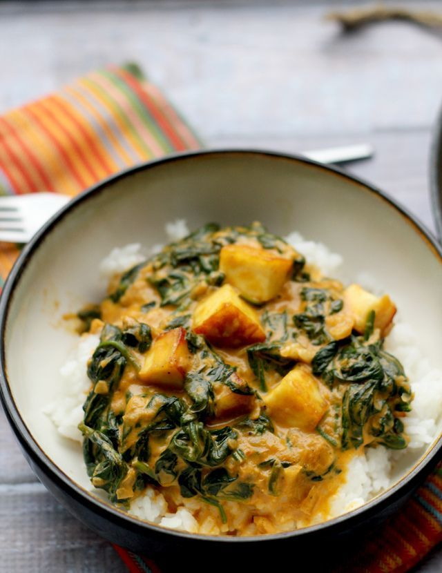 Saag Paneer - a classic north Indian dish that is made up of fried ...