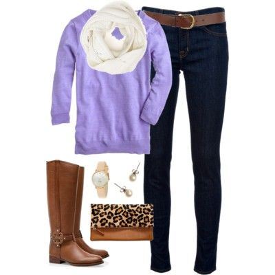 Lavender & Leopard - Polyvore - classically-preppy