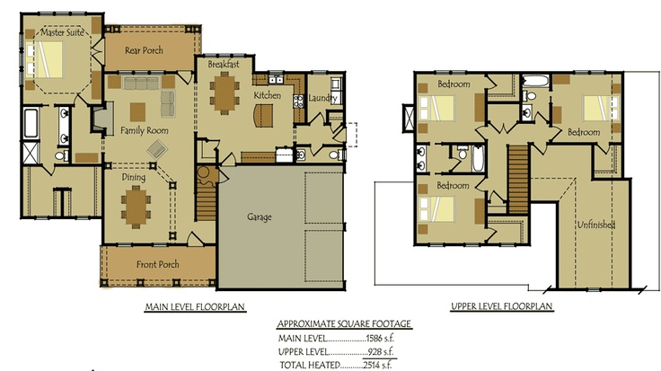 country cottage house floorplan ranch plans pinterest