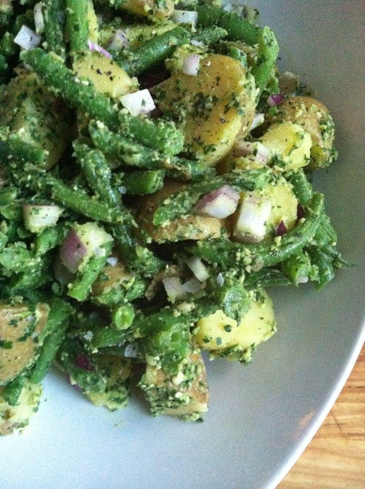 Potato And Green Bean Salad With Arugula Pesto Recipe — Dishmaps