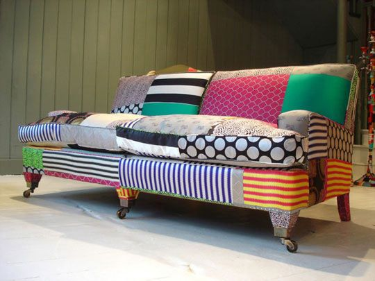 Funky sofa funky furniture pinterest - Telas tapizar sofas ...