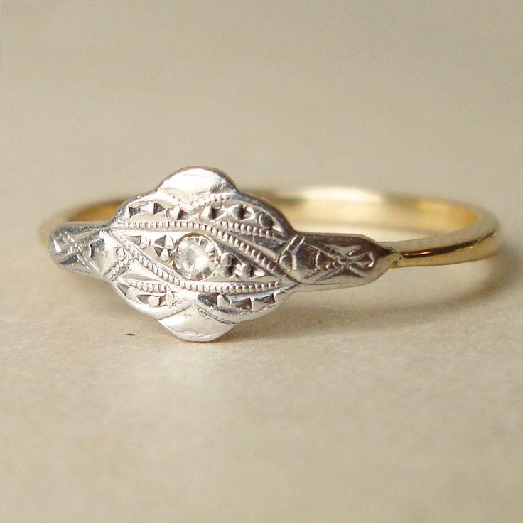 antique engagement ring edwardian 18k