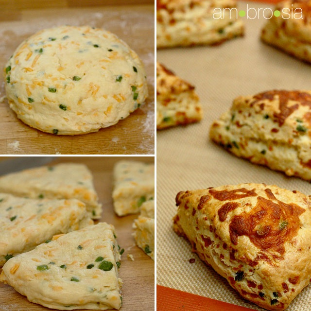 Cheddar and Jalapeno scones...get in my belly...right now.