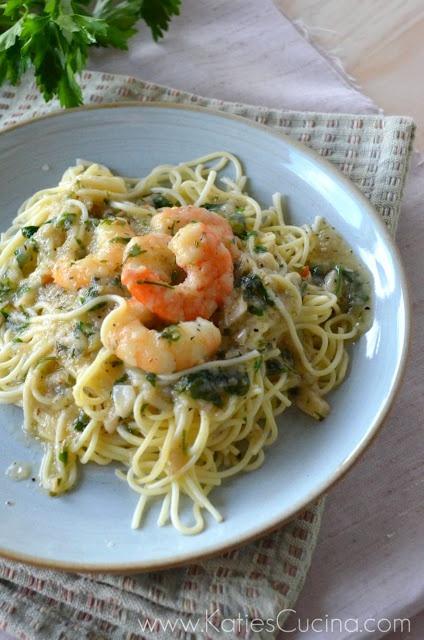 Shrimp Scampi Pasta - Katies Cucina | Katies Cucina