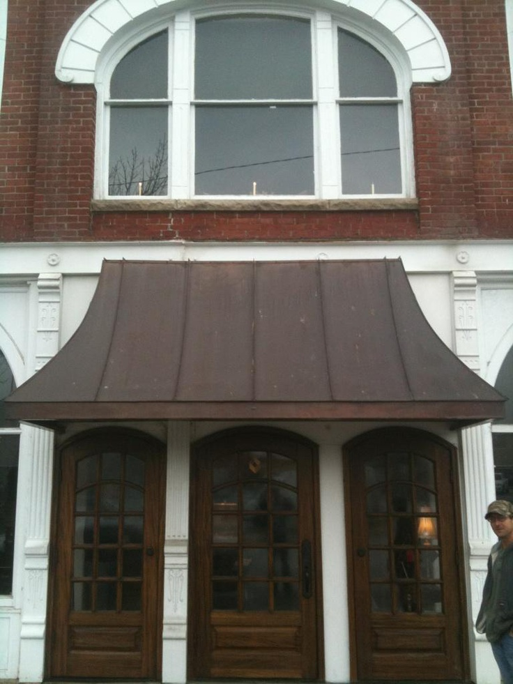 Copper awning | Storefront | Pinterest