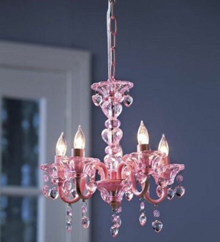 chandelier crystal lighting ceiling fixture kids girls room princess