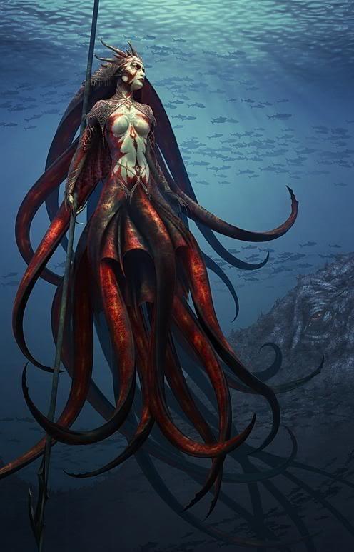 Humanoid Sea Creatures Sea Creatures Attack