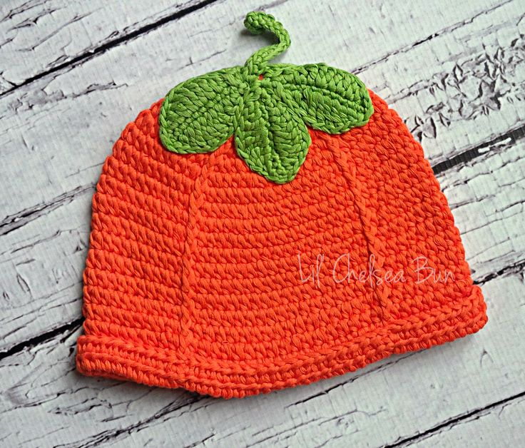 Pumpkin Crochet Hat Yarn over! Pinterest