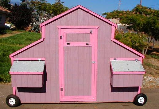 Pink Chicken Coop On Wheels Celestial Pink Cowgirl