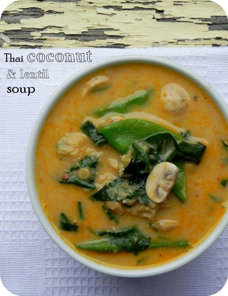 spicy coconut and lentil soup - Minus lentil plus chicken!