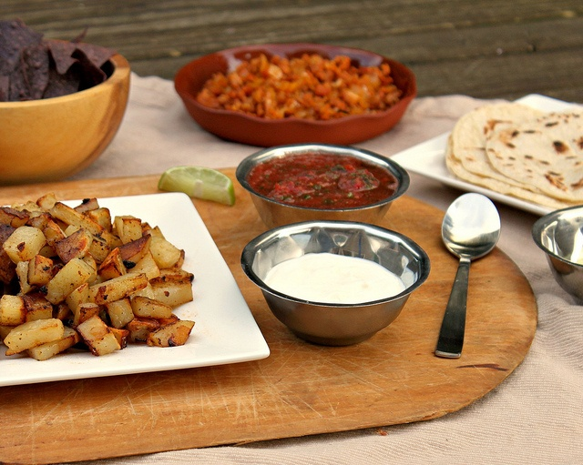 Chorizo & Potato Soft Tacos with a Simple Homemade Salsa