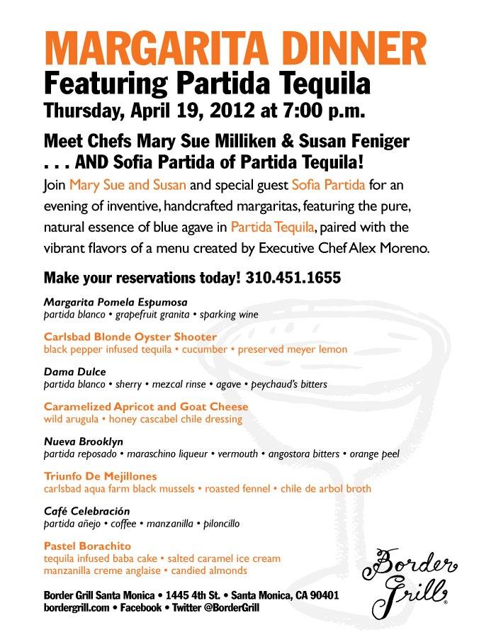 Partida Margarita Dinner: Our series of margarita dinners at Border ...