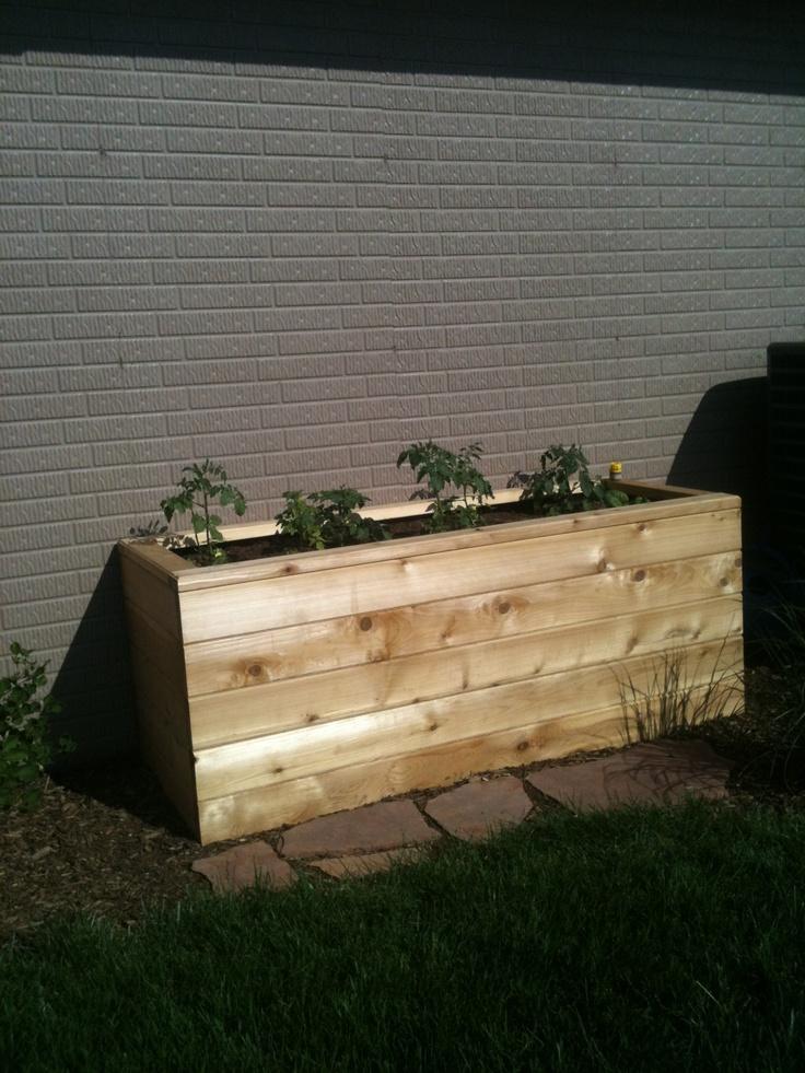 Self watering planter box love