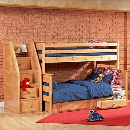 Laguna Twin Full Bunk Bed W Underdresser And Storage Chest By Trendwood Knoxville Wholesale