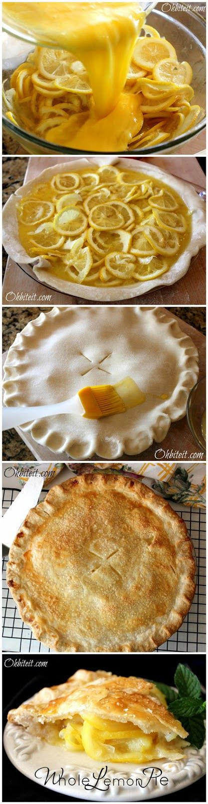 Whole Lemon Pie | SWEET TOOTH | Pinterest