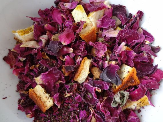 Rose Petal Tea Caffeine Free Secret Garden by LeftysTeaParlor, $2.25 ...