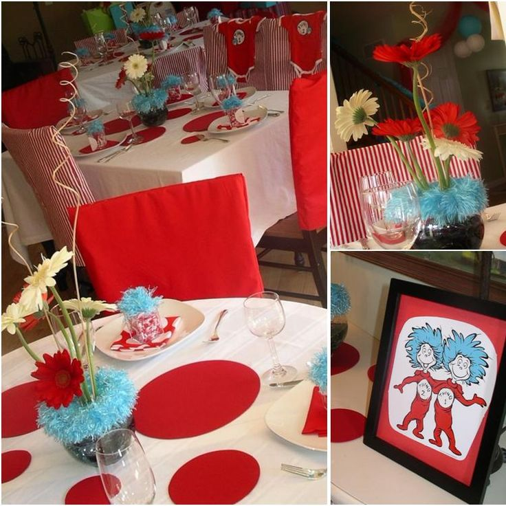 Thing 1 and thing 2 party thing 1 thing 2 baby shower for Baby shower decoration twins