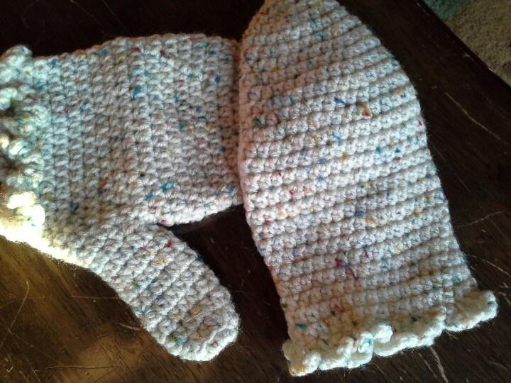 Crochet mittens, half double crochet My Crochet Pinterest