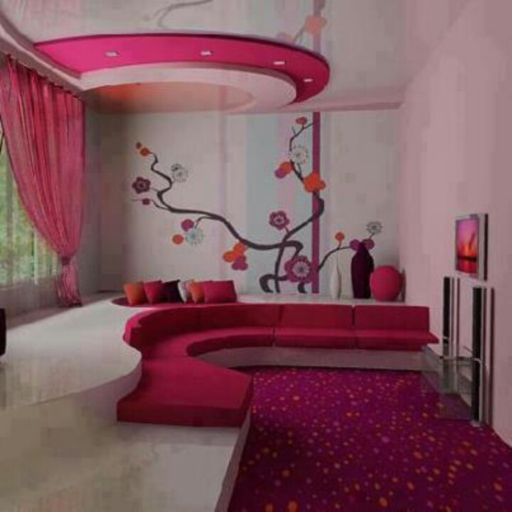 Hot pink couch for girls room unique home design furniture decor - Hot pink room ideas ...