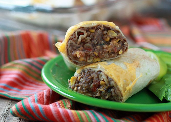 Easy Refried Bean and Cheese Burritos with Optional Chicken (perfect ...