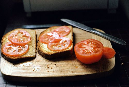 Tomato on toast. | om nom nom | Pinterest