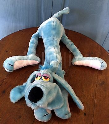 vintage 1984 r dakin foofur blue dog plush stuffed animal by phil man. Black Bedroom Furniture Sets. Home Design Ideas