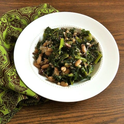 Sicilian Kale with Tuna, Capers and Cannellini Beans