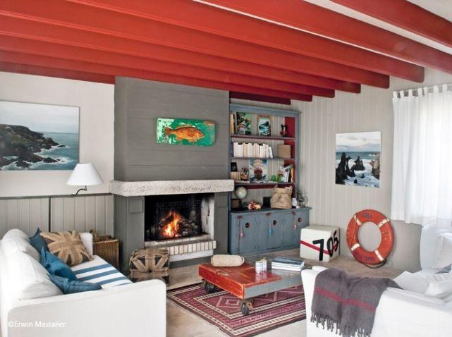 Idee deco salon mer charg mais cosy for the home - Idee deco salon cosy ...