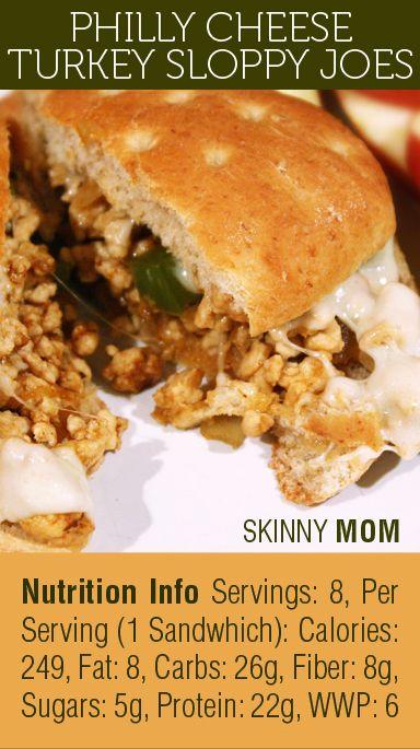 Skinny Mom Philly Cheese Turkey Sloppy Joes is a fan favorite! 1 ...
