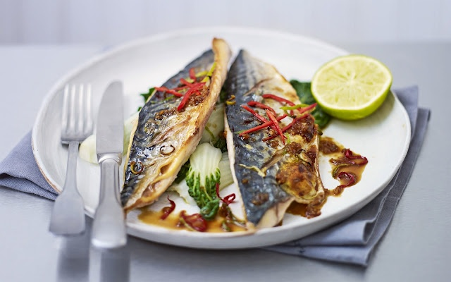 Grilled mackerel with sweet soy glaze | Recipes | Pinterest